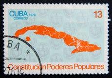 Cuba. Circa 1976. MOSCOW RUSSIA - NOVEMBER 25, 2012: A stamp printed in Cuba shows islands. Circa 1976 Stock Image