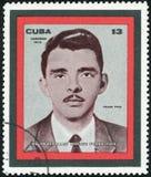 CUBA - 1972: shows Frank Pais Pesqueira 1934-1957, Educator, Revolutionary. CUBA - CIRCA 1972: A stamp printed in Cuba shows Frank Pais Pesqueira 1934-1957 Stock Photo