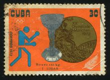 Postage stamp. CUBA - CIRCA 1972: 1982 1972 Summer Olympics, Munich Royalty Free Stock Image