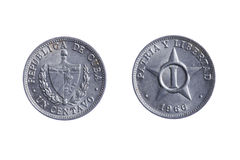 Cuba coins Royalty Free Stock Images