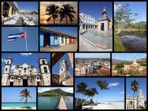 Cuba collage Stock Photography