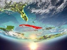 Cuba con il sole Fotografia Stock