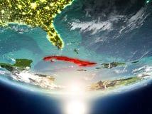 Cuba con il sole su pianeta Terra Immagini Stock