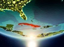 Cuba con il sole su pianeta Terra Fotografia Stock Libera da Diritti