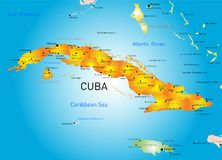 Cuba country. Vector color map of Cuba country Stock Photography