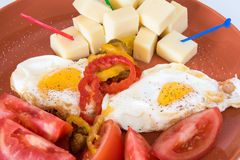 Cuba Cuisine Breakfast Dish based on Eggs as main ingredient Stock Photos