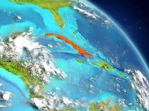 Cuba da órbita Fotos de Stock Royalty Free