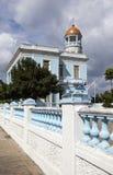CUBA 3 DE FEBRERO DE 2013: Palacio azul, hotel Palacio Azul, construido en 1920, Cienfuegos cuba foto de archivo
