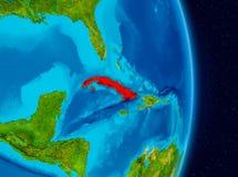 Cuba do espaço Imagem de Stock Royalty Free
