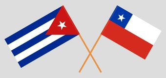 Cuba ed il Cile Bandiere cubane e cilene royalty illustrazione gratis