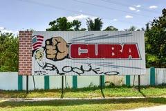 Cuba Embargo Sign - Cienfuegos, Cuba Stock Photography