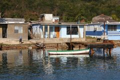 Cuba fishing village Royalty Free Stock Image