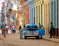 Cuba fixing cars stock images