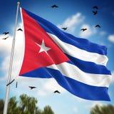 cuba flagę Obrazy Royalty Free