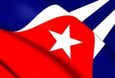 cuba flagę Zdjęcie Royalty Free