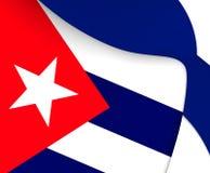 cuba flagę Fotografia Royalty Free