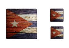 Cuba Flag Buttons Stock Photos