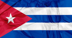 Cuba flag. 3D waving Cuba flag background red, blue and white colors, Latin America Caribbean Royalty Free Stock Images