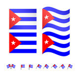 Cuba Flag Stock Photography
