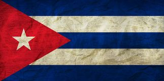 Cuba Flag on Paper. Flag on an old Paper Texture Stock Photography