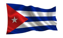 Cuba flag.  A series of `Flags of the world.    The country - Cuba flag. Cuba flag.  A series of `Flags of the world.`   The country - Cuba flag Stock Illustration