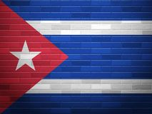 Brick wall Cuba flag Royalty Free Stock Image