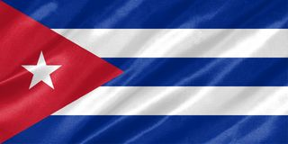 Cuba Flag royalty free illustration