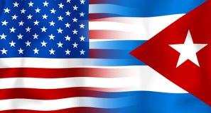 cuba flagga USA Royaltyfri Bild