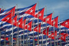 Cuba flags Stock Photos