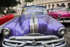 Cuba, Havana - August 14, 2016: amazing vintage american classic car Royalty Free Stock Photos