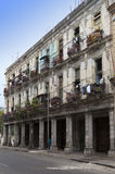 Cuba. Havana. Bright old balconies in the old city Royalty Free Stock Image