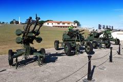 Cuba. Havana. Cabana de Morro- da fortaleza. A exposição da arma soviética devotou à memória da crise das caraíbas (o míssil cuban Foto de Stock Royalty Free