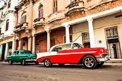 Cuba, Havana: Carro clássico americano Fotos de Stock Royalty Free