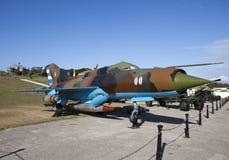 cuba havana FästningMorro- Cabana Utställningen av det sovjetiska vapnet ägnade till minnet av den karibiska krisen fotografering för bildbyråer