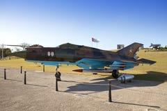 cuba havana FästningMorro- Cabana Utställningen av det sovjetiska vapnet ägnade till minnet av den karibiska krisen arkivbilder