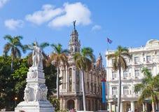 Cuba. Havana. Jose Marti monument in Central Park. Cityscape in a sunny day Stock Image