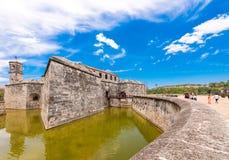 CUBA, HAVANA - MAY 5, 2017: View of Castillo de la Real Fuerza. Copy space for text. Royalty Free Stock Photo