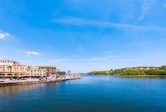CUBA, HAVANA - MAY 5, 2017: View of the Malecon embankment. Copy space for text. CUBA, HAVANA - MAY 5, 2017: View of the Malecon embankment. Copy space for text Stock Photo
