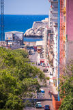 CUBA, HAVANA - MAY 5, 2017: View of the Malecon embankment. Vertical. Copy space for text. CUBA, HAVANA - MAY 5, 2017: View of the Malecon embankment. Vertical Royalty Free Stock Photography