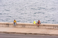 CUBA, HAVANA - MAY 5, 2017: View of the Malecon waterfront. Copy space for text. Stock Image