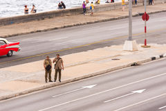 CUBA, HAVANA - MAY 5, 2017: View of the Malecon waterfront. Copy space for text. Stock Photography