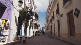 CUBA, HAVANA - OCTOBER 15, 2016: city tour, visit the main attractions of the colonial period in Cuba. The old streets stock video footage