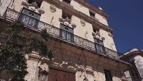 CUBA, HAVANA - OCTOBER 15, 2016: San Francisco square havana cuba city tour Slow motion. stock footage