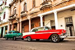 Cuba, Havana: American classic car royalty free stock photos