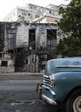 Cuba, Havana. The old destroyed building on one of the central streets Stock Photography