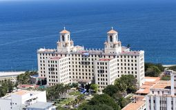 cuba Havana Widok Z Lotu Ptaka Hotelowy Nacional de Kuba zdjęcie stock