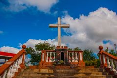 Cuba. Holguin: Loma de La Cruz de Holguin. Against the blue sky royalty free stock image