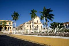 cuba huvudplaza trinidad Arkivbild