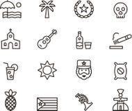 Cuba icon set Stock Photo