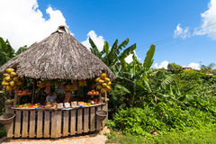 Cuba inland stall near Trinidad Stock Image